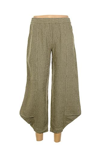 aurea et vita pantalons et decontractes femme de couleur beige