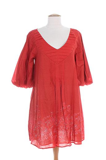 lili soon robes femme de couleur rouge