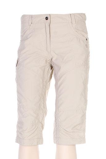 icepeak pantacourts femme de couleur beige