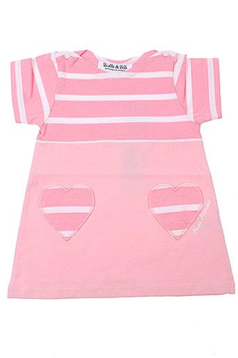 bulle de bb robes fille de couleur rose