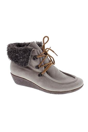 pedi et girl boots femme de couleur gris