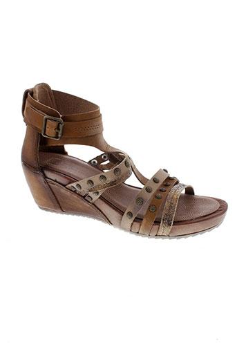 spiral sandales et nu et pieds femme de couleur marron