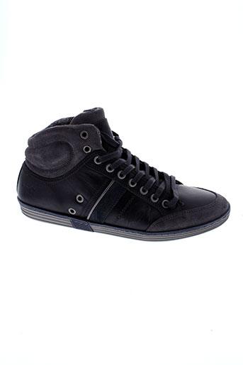 mustang chaussures homme de couleur noir