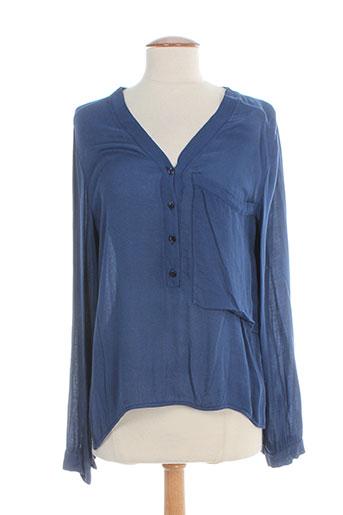 nvy denim chemises femme de couleur bleu