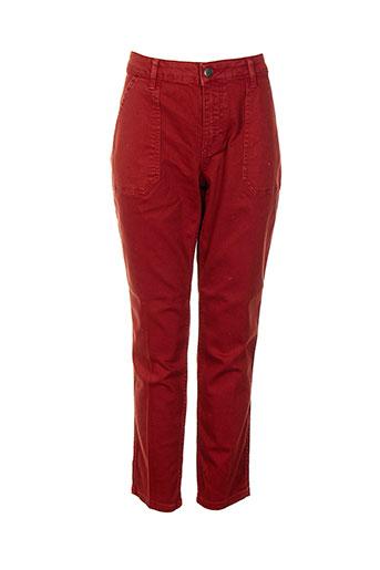 nvy denim pantalons femme de couleur rouge