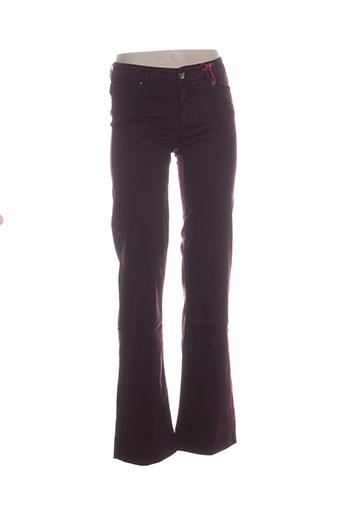 naf naf pantalons femme de couleur violet