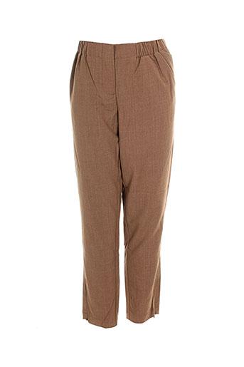 Pantalon chic marron VERO MODA pour femme