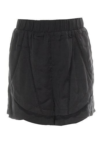 vila shorts / bermudas femme de couleur noir