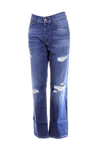 eleven paris jeans homme de couleur bleu