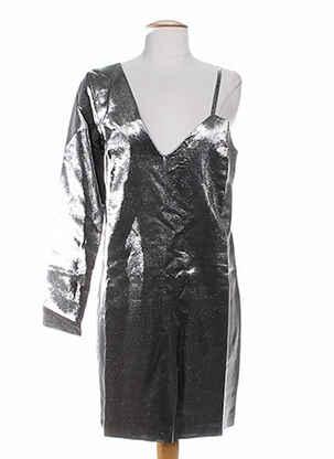 Robe mi-longue gris AMERICAN RETRO pour femme