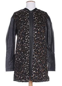 Manteau long noir B.YOUNG pour femme