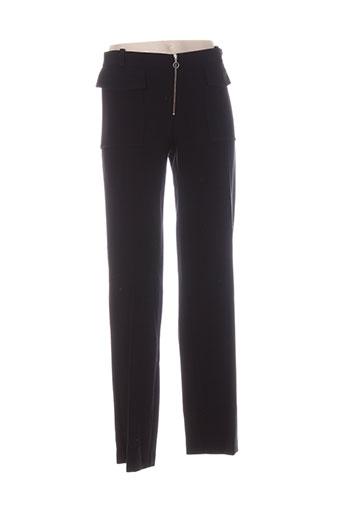 sinequanone pantalons femme de couleur noir