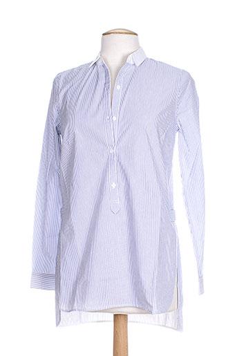 custommade chemises femme de couleur bleu