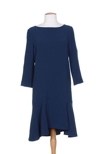 tara jarmon robes femme de couleur bleu