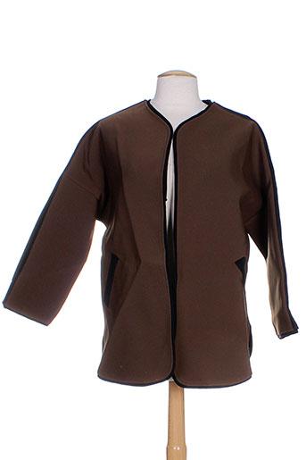 Veste casual marron BONSUI pour femme