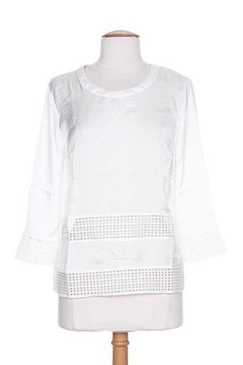 ichi chemises femme de couleur blanc