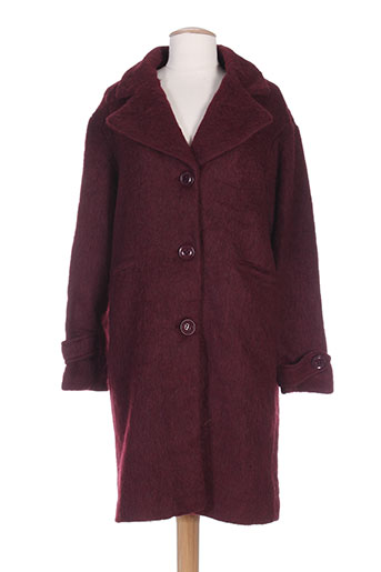 sweewë manteaux femme de couleur rouge