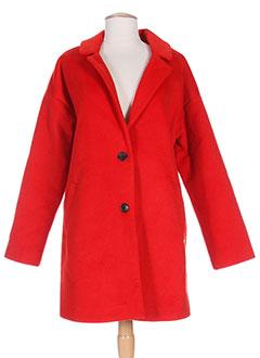 Manteau femme rouge soldes