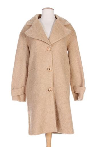 sweewë manteaux femme de couleur beige