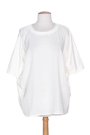 Tunique manches courtes beige ICHI pour femme