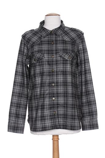 reiko chemises femme de couleur gris