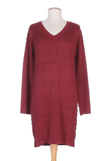 ichi robes femme de couleur rouge