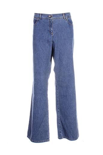 frank et walder jeans et coupe et droite femme de couleur bleu