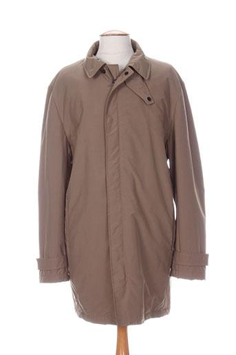 kenzo manteaux homme de couleur marron