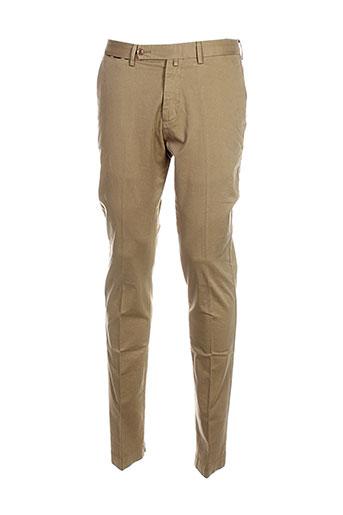 hackett pantalons et decontractes homme de couleur beige