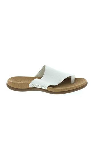 gabor sandales et nu et pieds homme de couleur blanc