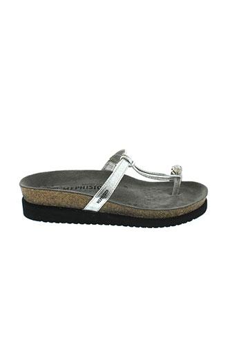 mephisto sandales et nu et pieds femme de couleur gris