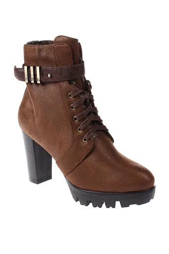 226 et shoes boots femme de couleur marron