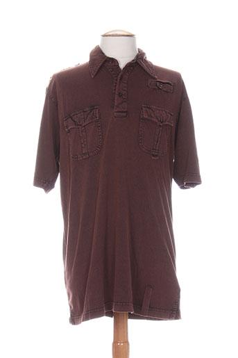 partner's t-shirts homme de couleur marron