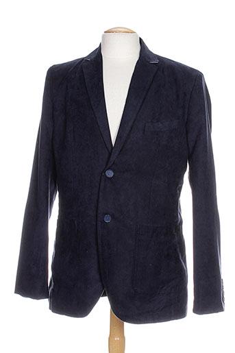 partner's vestes homme de couleur bleu