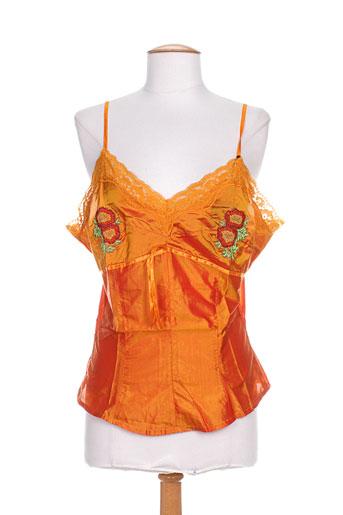 partner's chemises femme de couleur orange