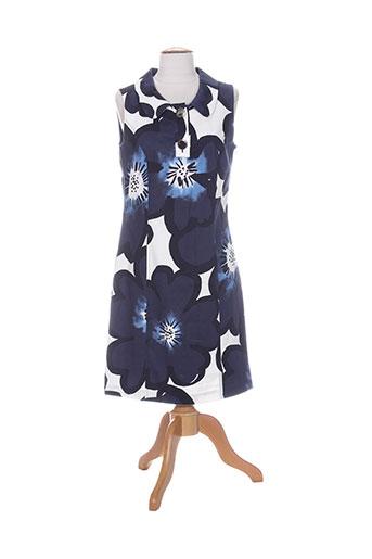 caroline biss robes femme de couleur bleu