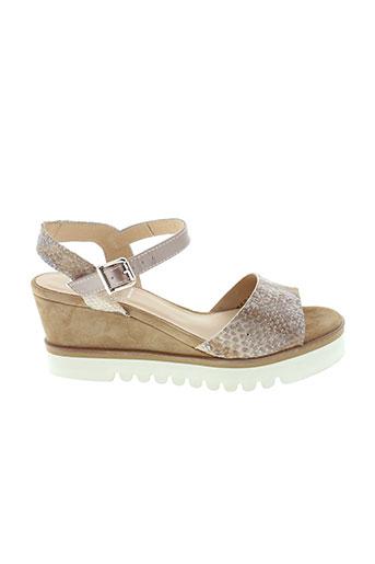 gadea sandales et nu et pieds femme de couleur beige