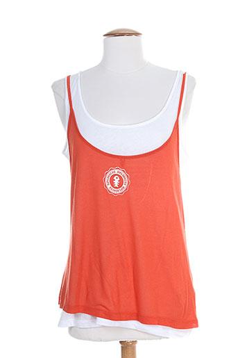 diplodocus chemises femme de couleur orange