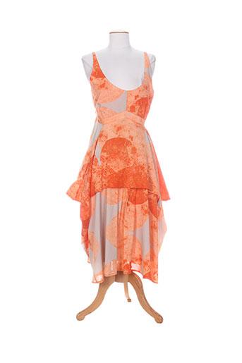 lauren vidal robes femme de couleur orange
