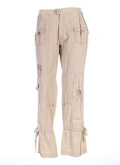Pantalon casual beige ET COMPAGNIE pour femme
