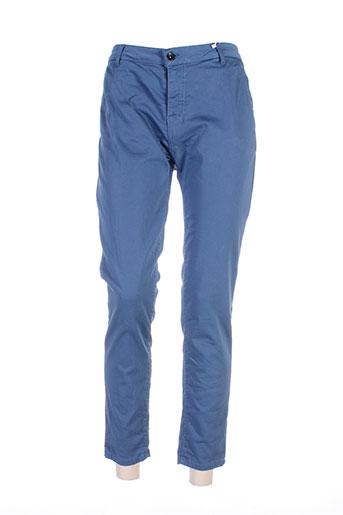 r jeans pantalons femme de couleur bleu