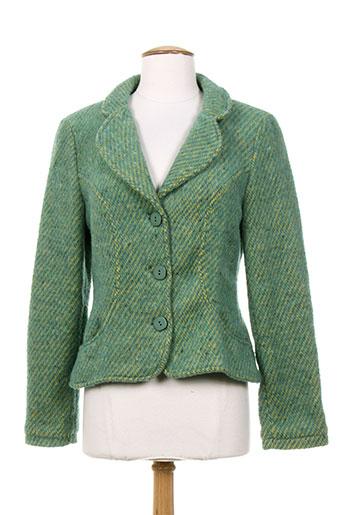 les habits de dalie vestes femme de couleur vert