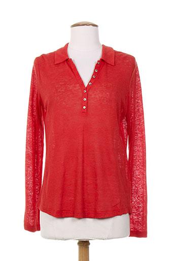 diplodocus t-shirts femme de couleur rouge