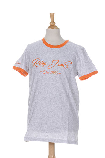 relay jeans t-shirts garçon de couleur gris