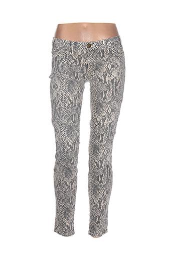 elliott pantalons femme de couleur gris