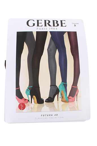 gerbe bas et collants femme de couleur marron