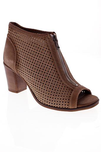 fabrica et dei et colli boots femme de couleur beige