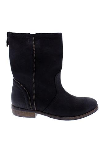 tommy et hilfiger boots femme de couleur noir