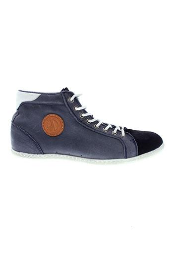 pepe et jeans baskets homme de couleur bleu