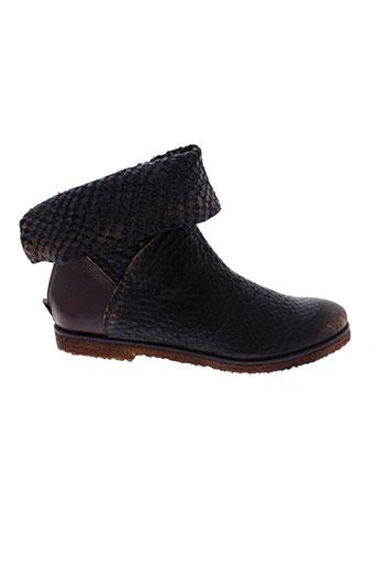 papucei boots femme de couleur marron